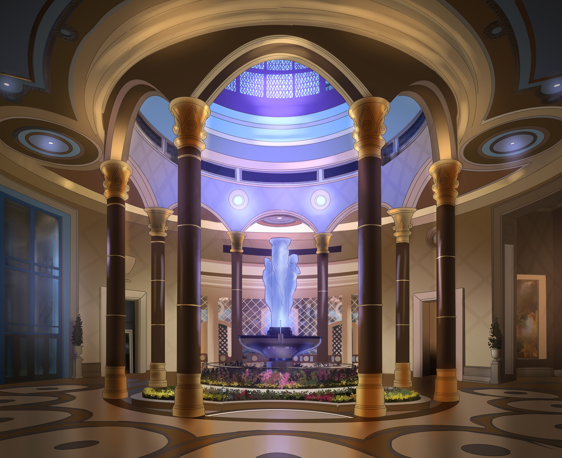 Anthony diecidue the palazzo lobby fountain