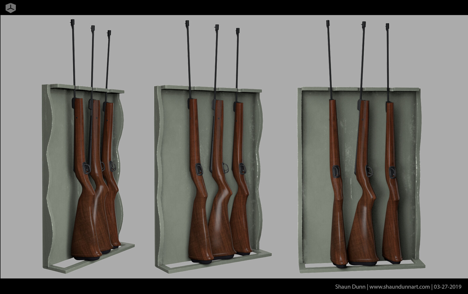 Early look dev for rifles.