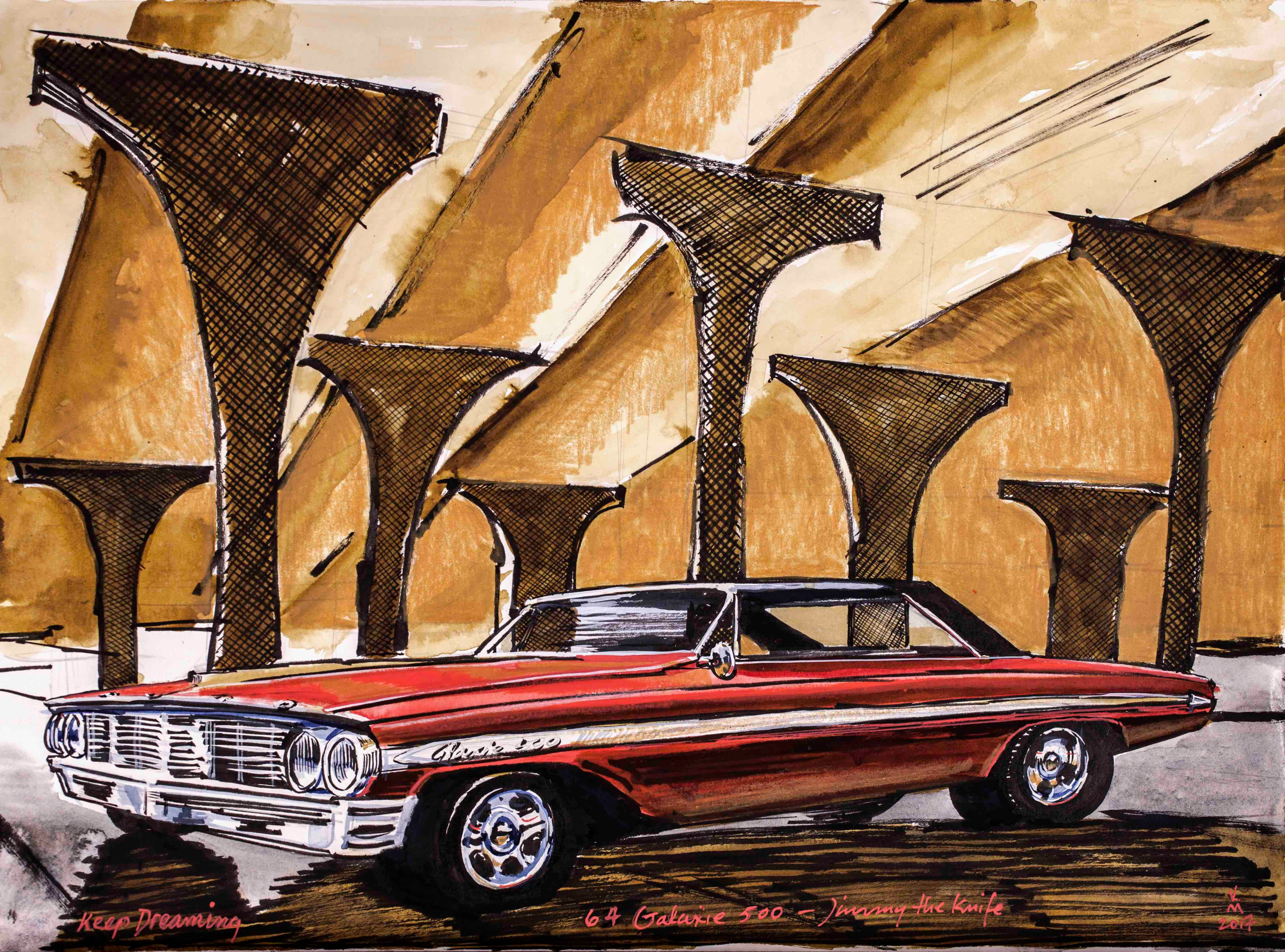 60's muscle, FORD Galaxie 500.
