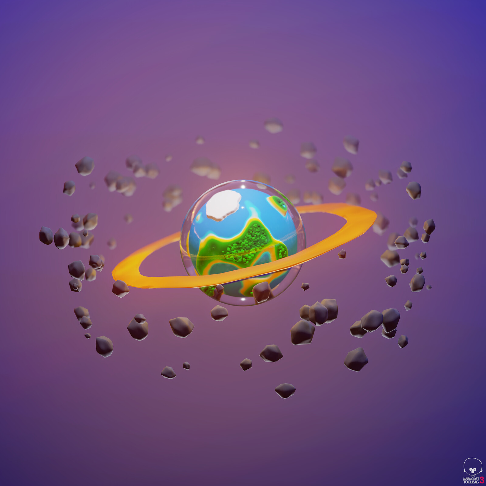STYLIZED PROCEDURAL PLANET ECOSYSTEM