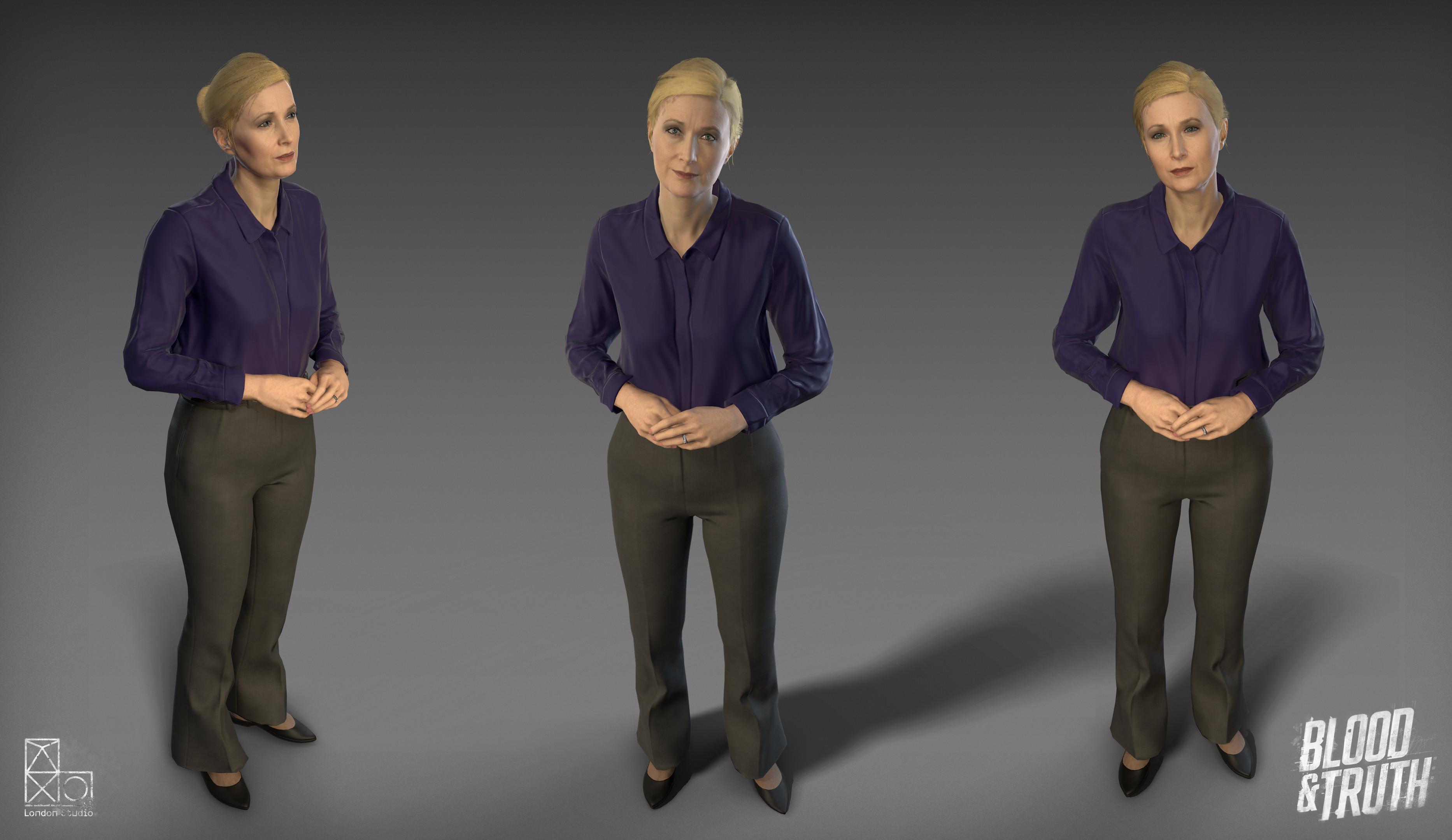 In game Anne model.