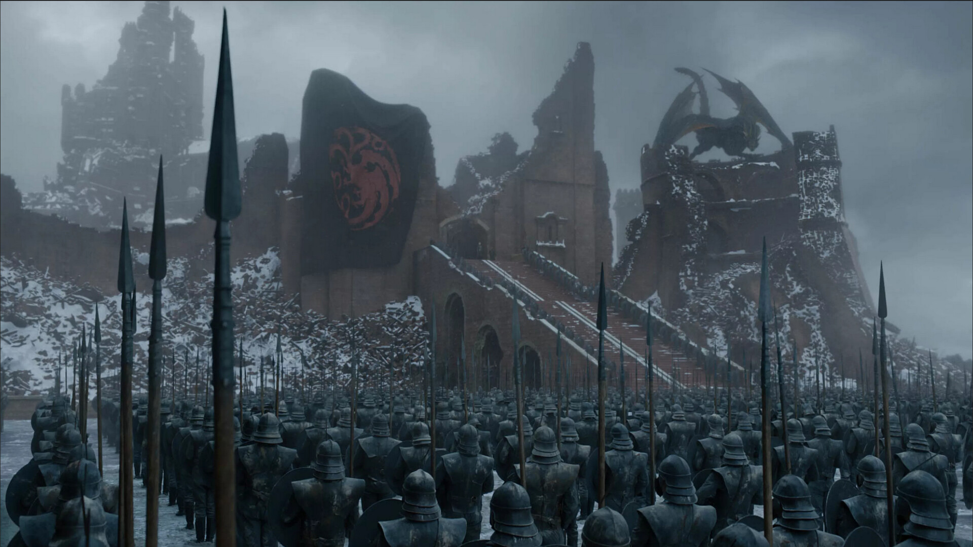 How the Ruined Gate looked in the episode!