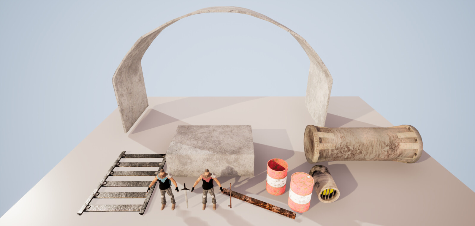 Kit of assets used to make scene