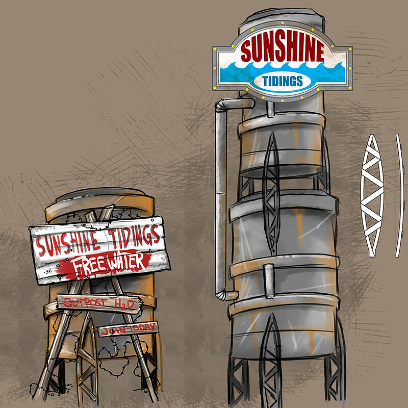Sunshine Tidings Sign Progression & Texture
