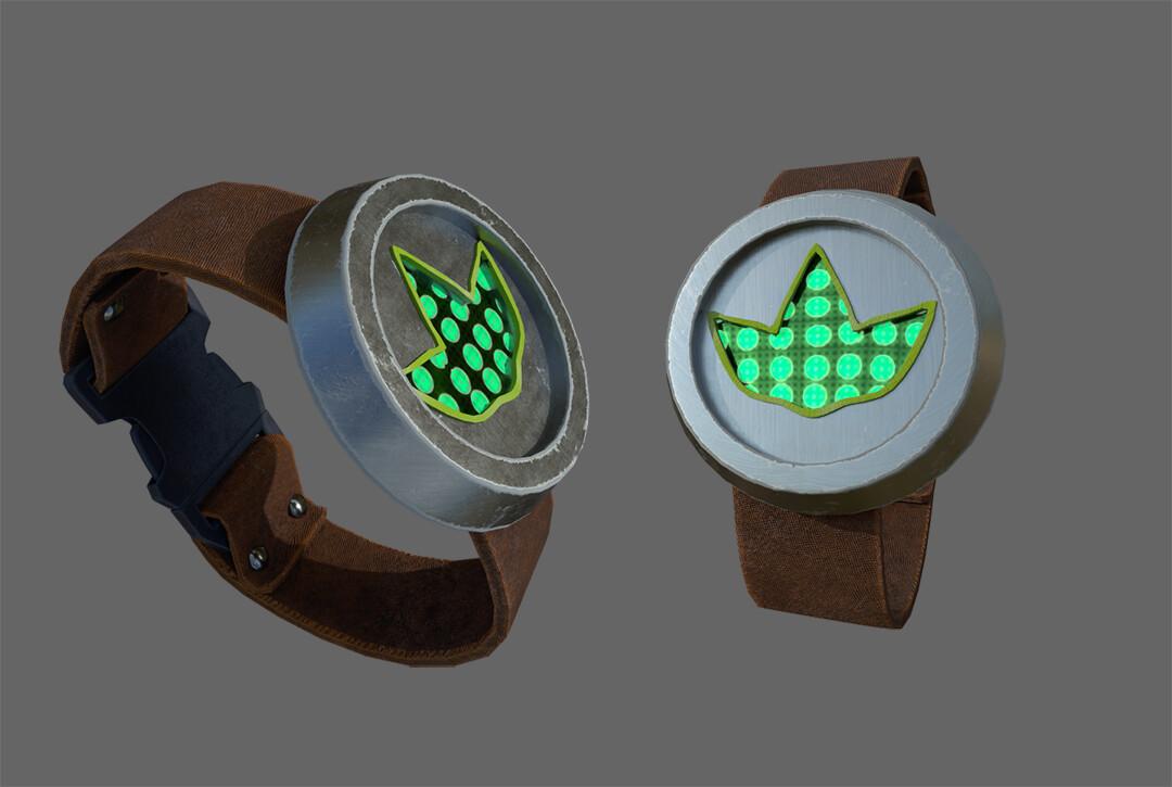 Plant indicator wristband.