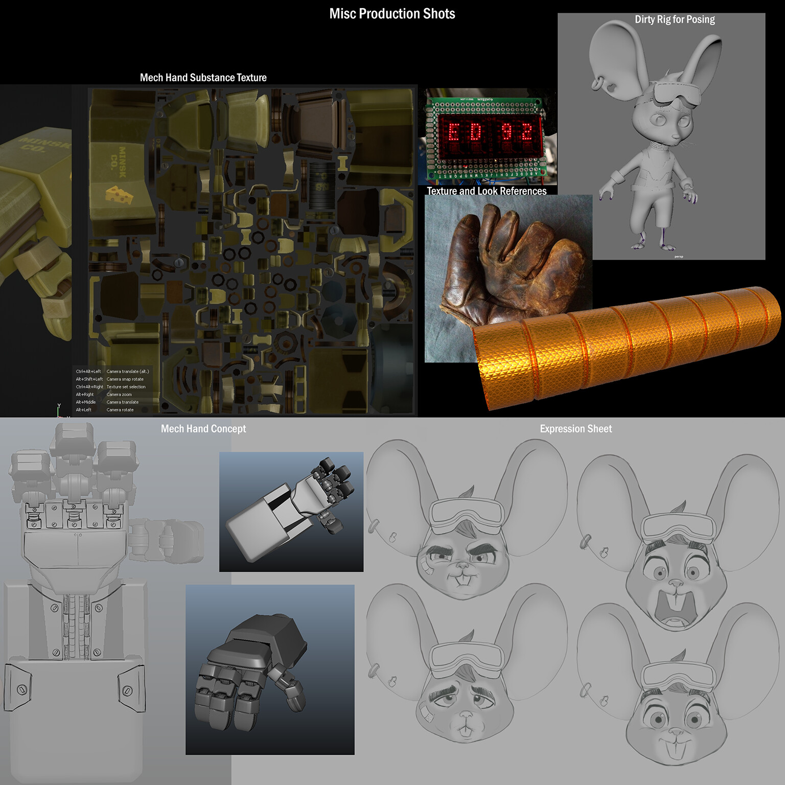 Various concepts, and productions bits.