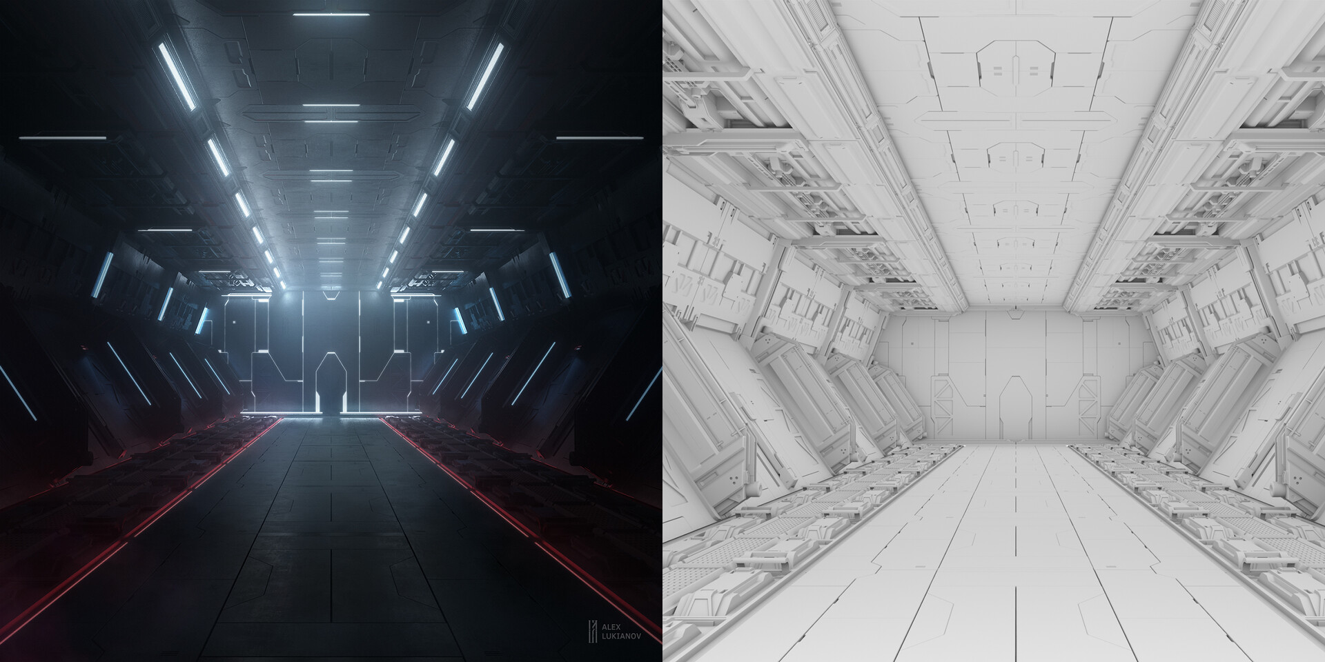 Alex lukianov sci fi korridor