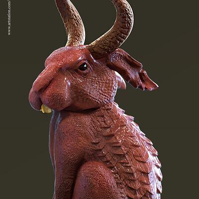 Surajit sen bazooka rabbit digital sculpting surajitsen may2019