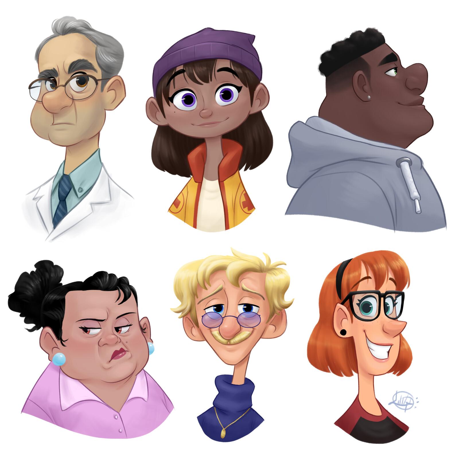 Random Character Busts