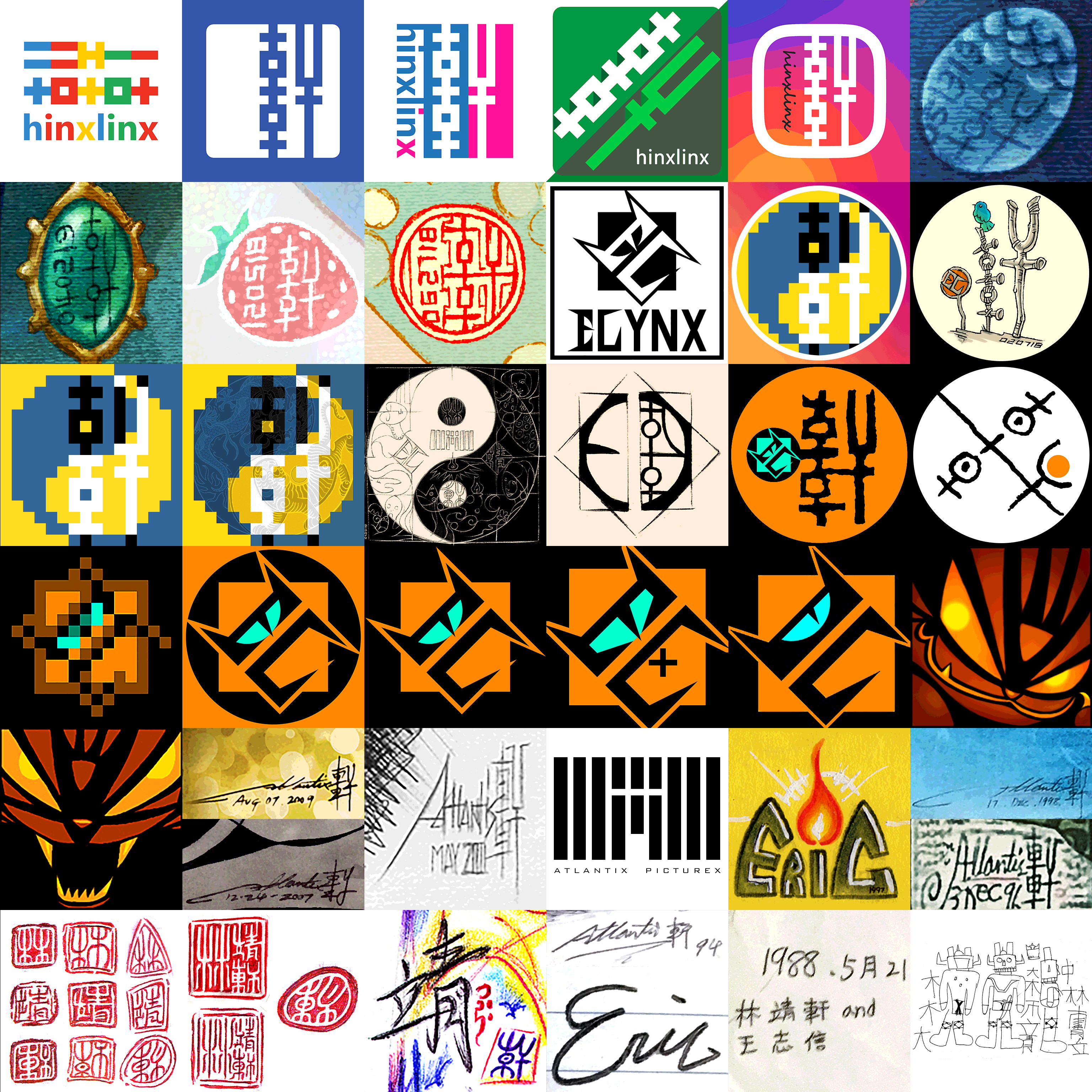 Evolution of Logo / Signature / Avatar II