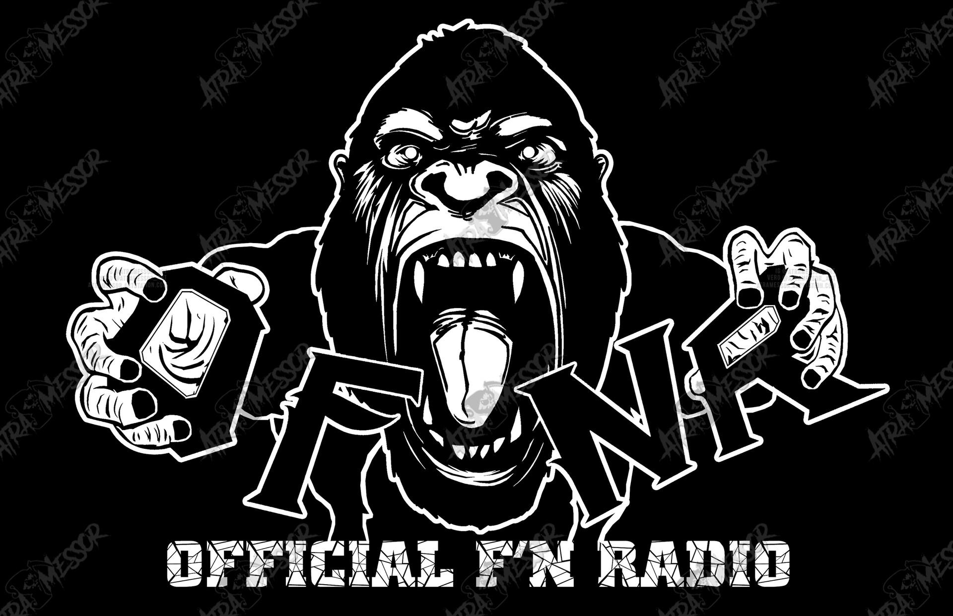 OFNR Gorilla merch for Official F'N Radio