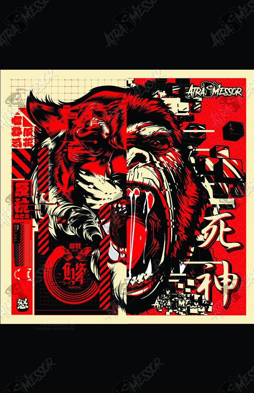 tiger gorilla mashup (collab with Hydro74)