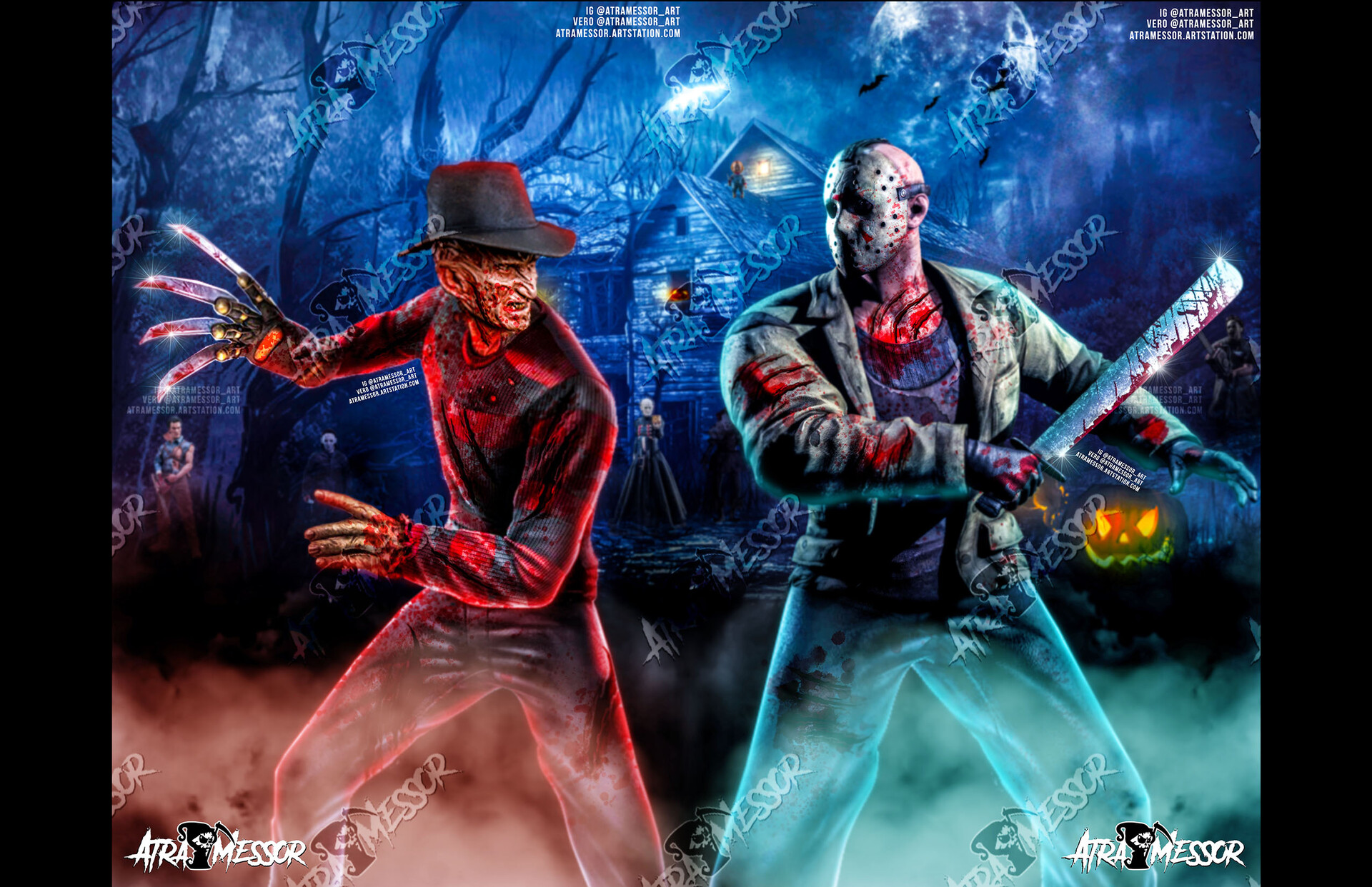 Freddy vs Jason 2 piece