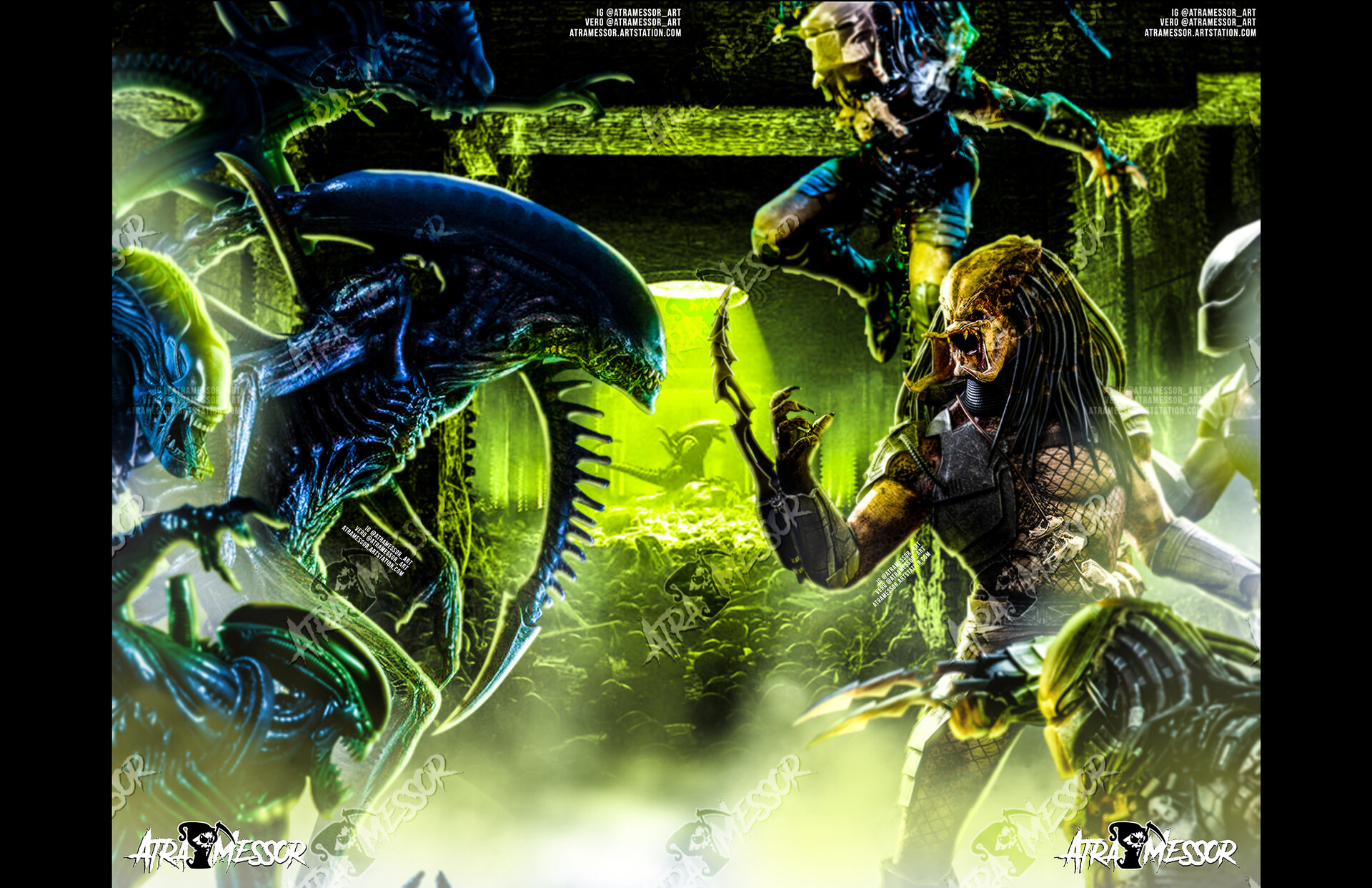 Alien vs Predator 2 piece