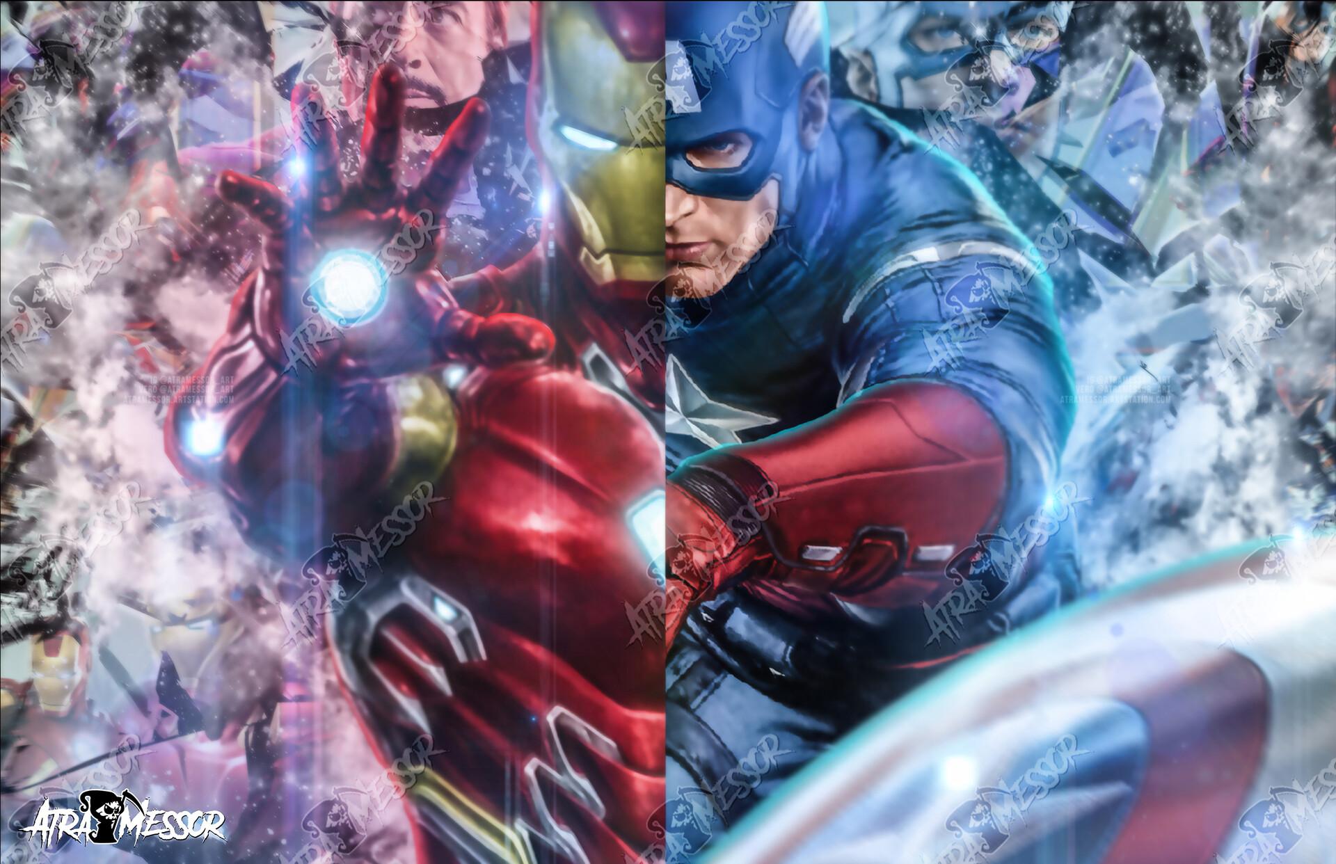Iron Man Cap side by side