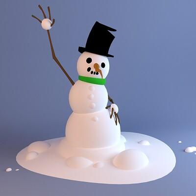 Johnny haarup snowman 3dc