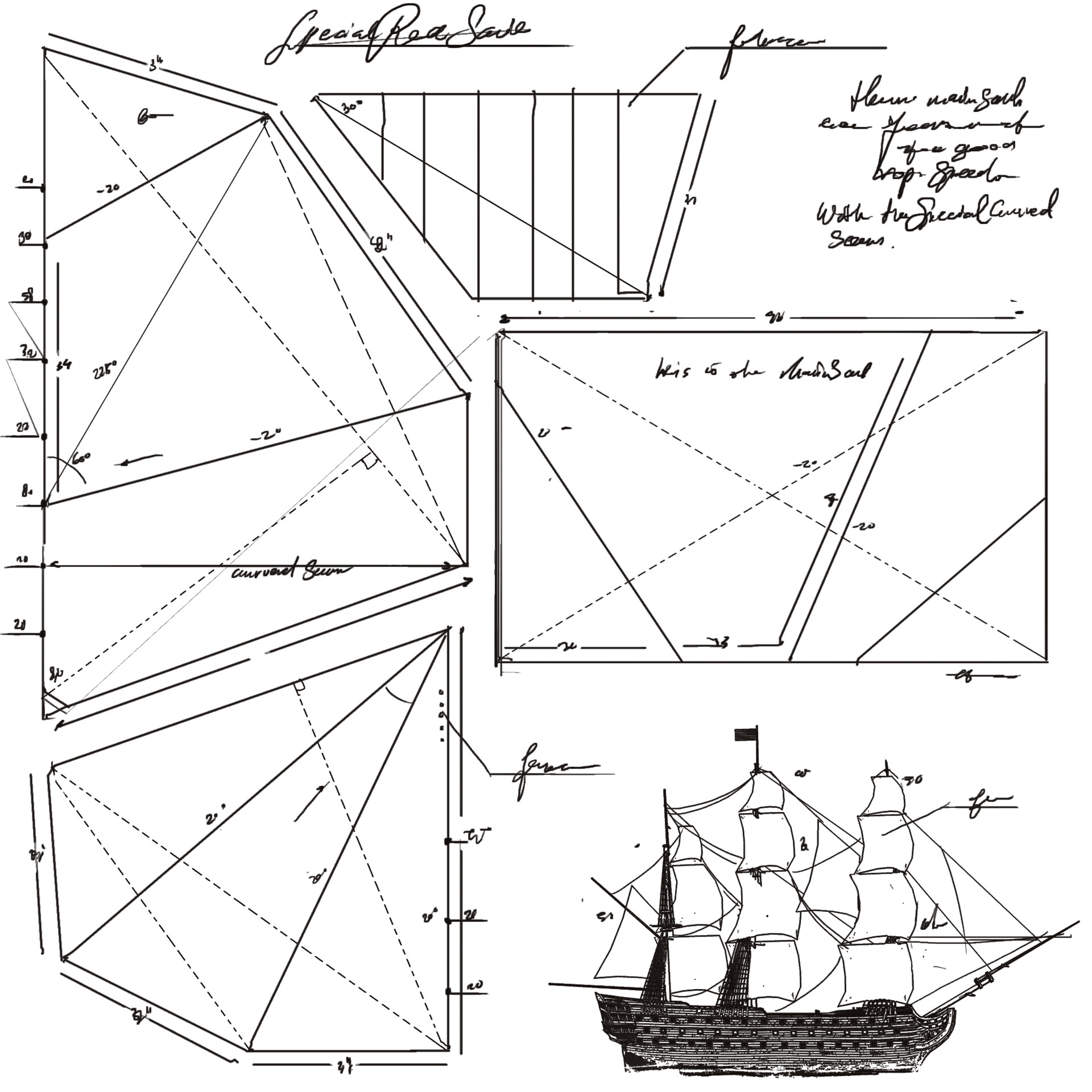 Sail blueprint to be put on a 3d treasure item in the original game.