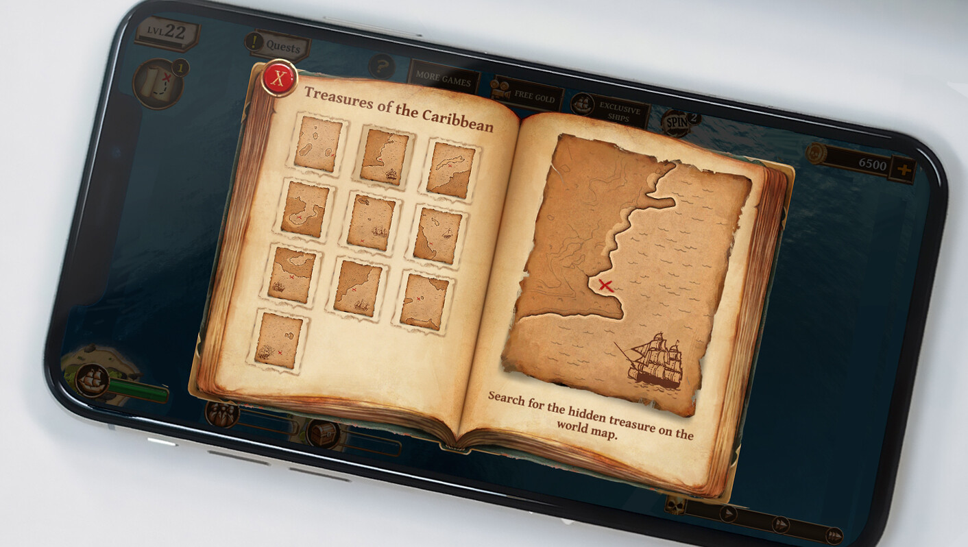 Window I made and implemented for a treasure hunting quest in the original game. Presentation photo of phone by CoinView App on Unsplash.