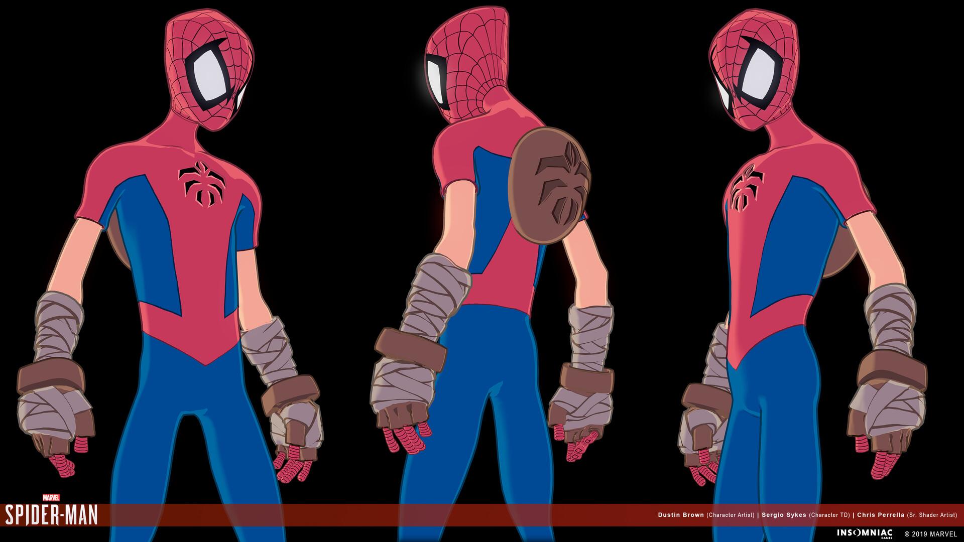 Dustin brown marvels spiderman herosuit mangaverse 02