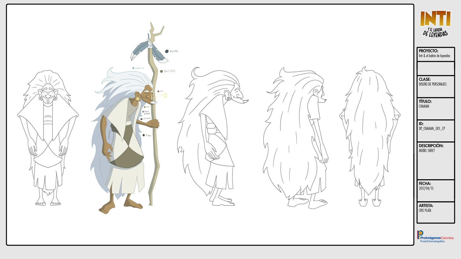 Old Chaman  - Character Design / Turn Around