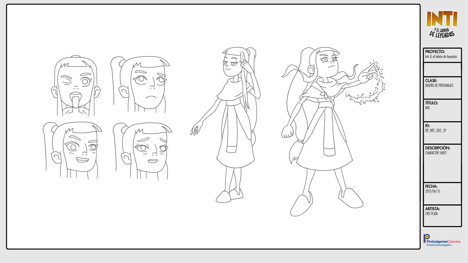 Inti - Character Design /  Character Sheet