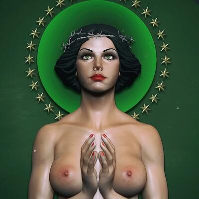 Madonna praying