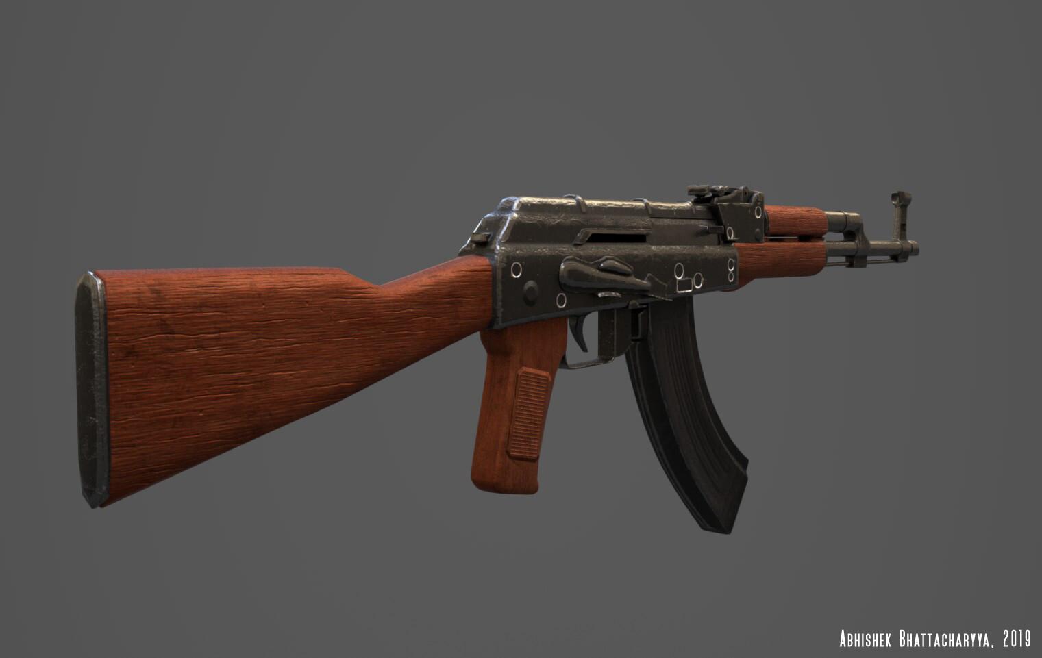 AK-Assault Rifle Back With PBR textures