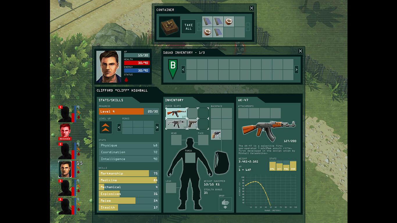 Game UI: Inventory concept