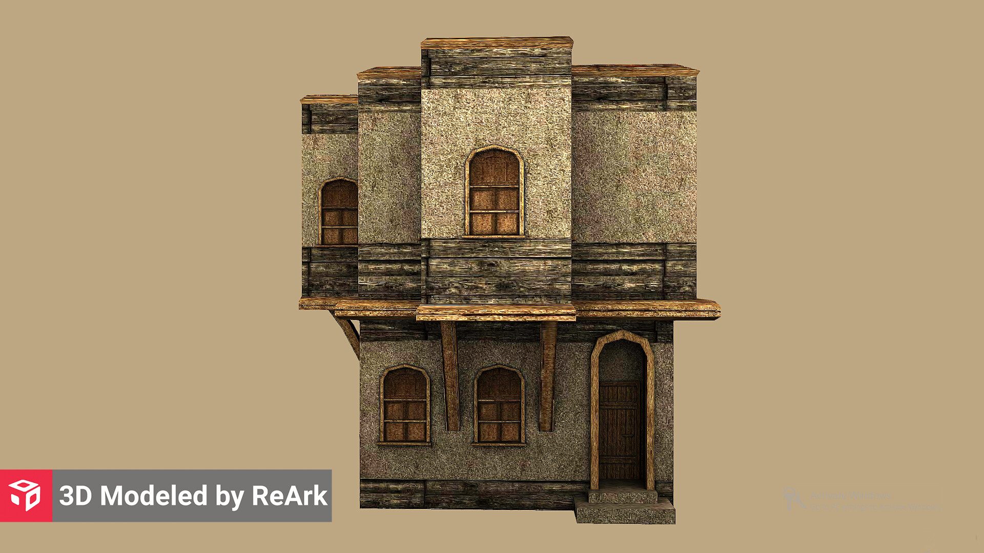 Artstation 3d Model Of A Small House Reark 3d