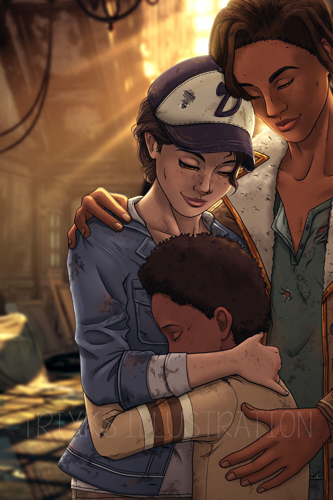 Trixks Illustration Clementine S Happy Ending Twd The
