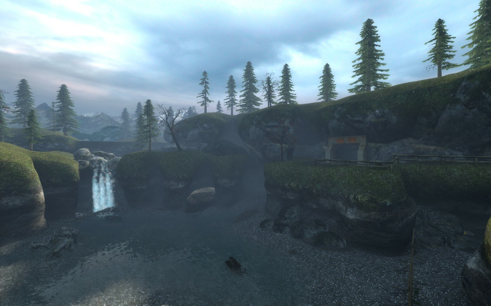 This is the area the player leaves the mines and enters the forest.