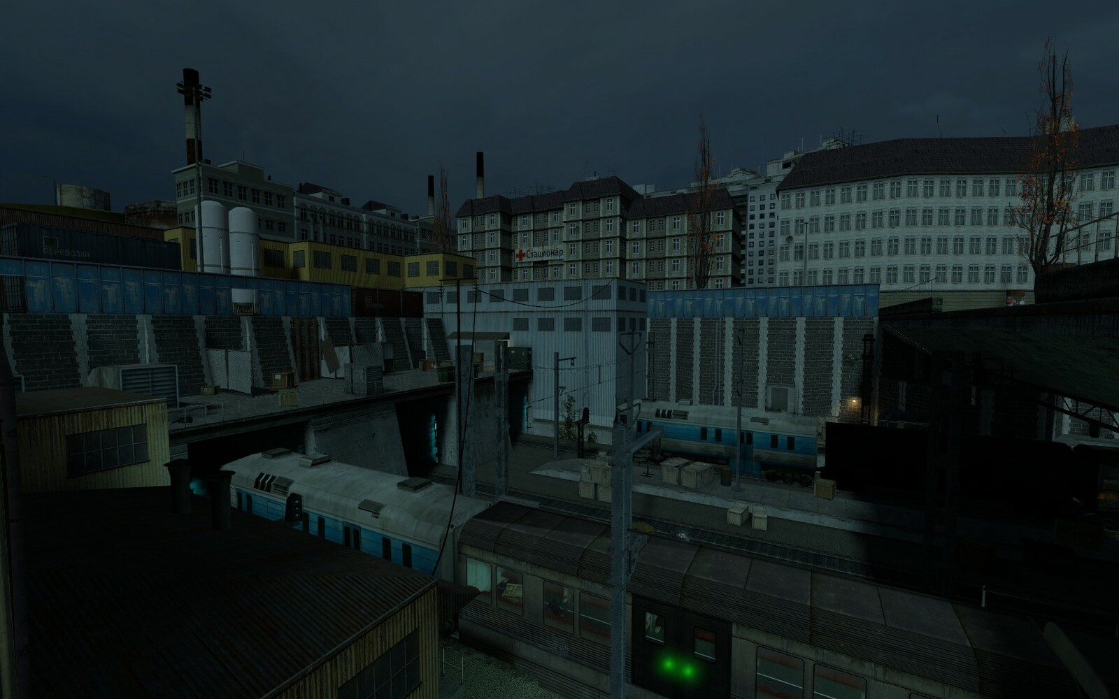 Another shot of the train yard.