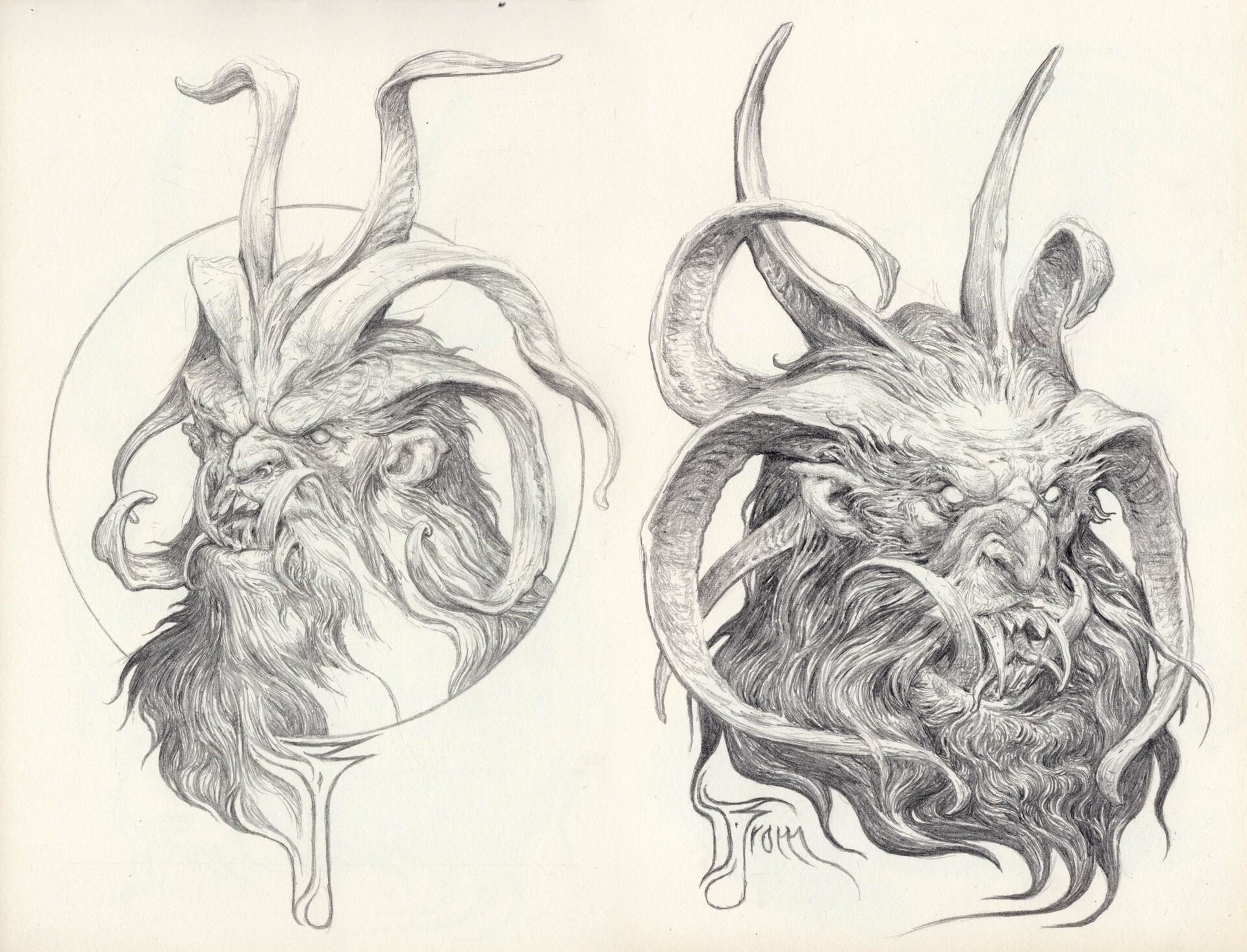 Daniel zrom danielzrom sketchbook13 krampus