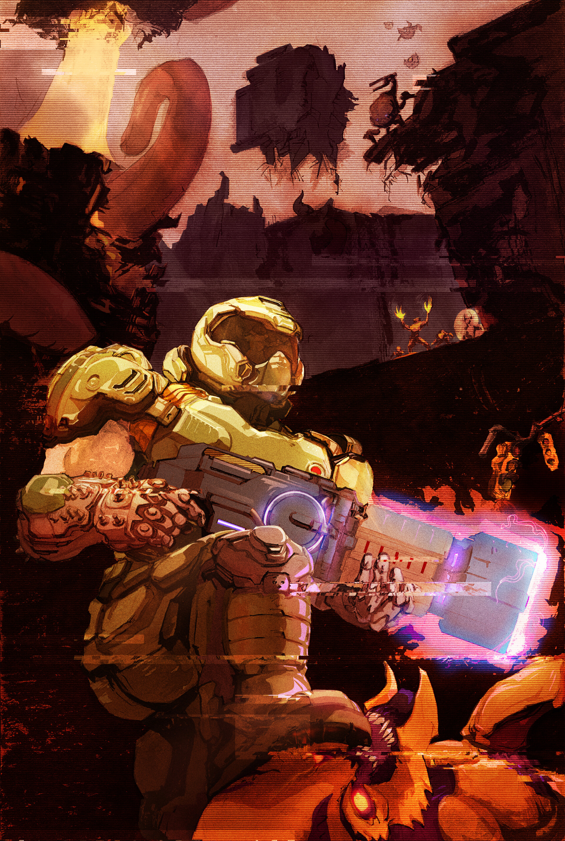 Doom Slayer Art By Tyler Osgood Doom