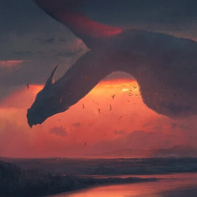 Swang sunset flight print lr