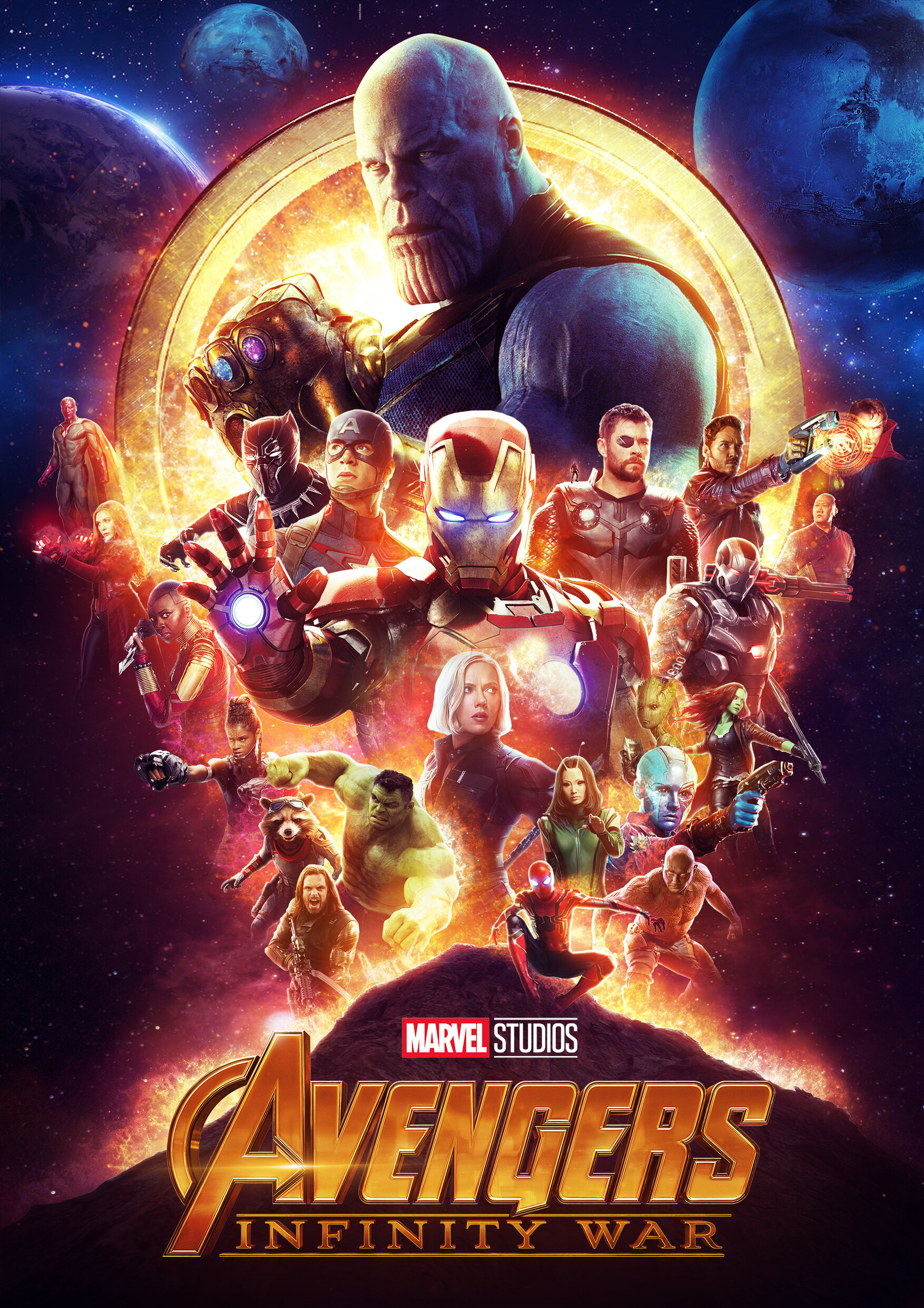 Artstation Avengers Infinity War Poster George Britton