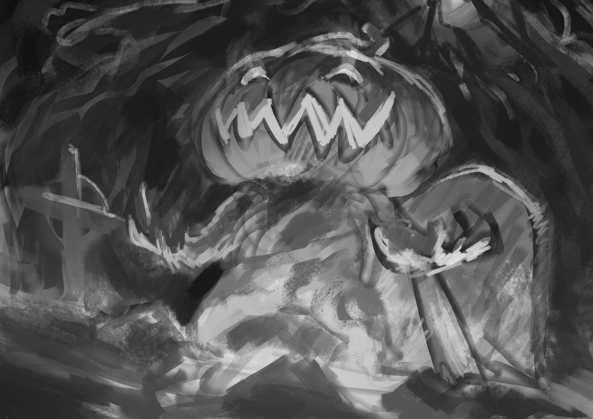 Thomas bourdon pumpkin hex sketch
