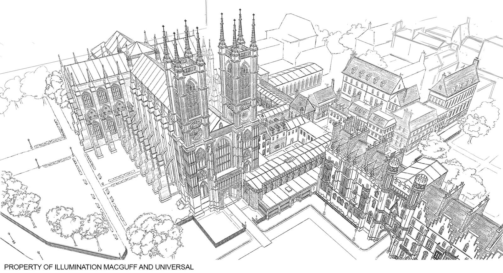 Westminster Abbey - Top view