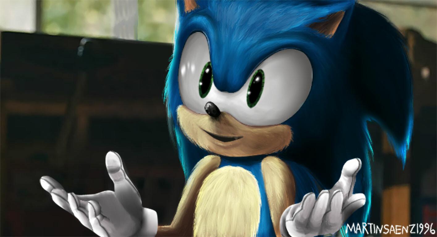 Artstation Sonic Movie Redesign My Version Martin Saenz