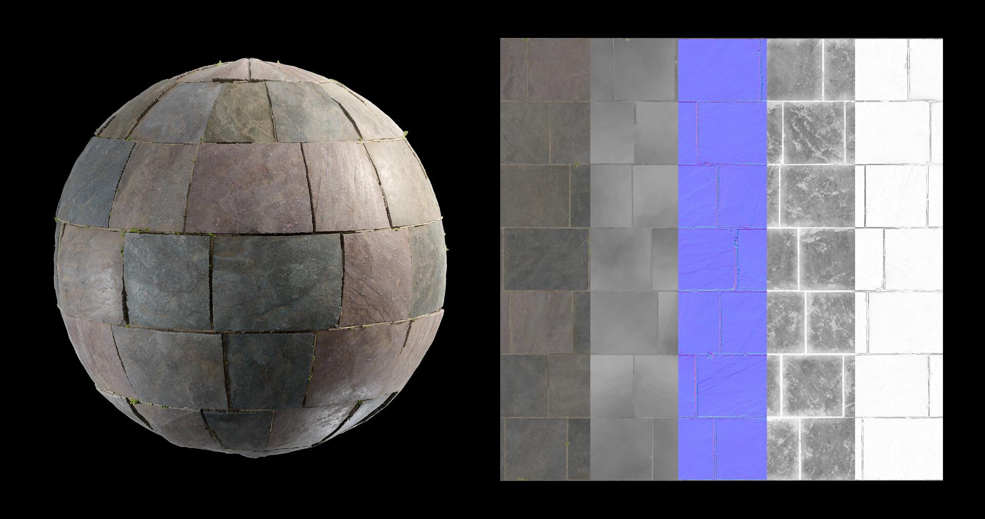 Ben wilson slate stone floor render 4