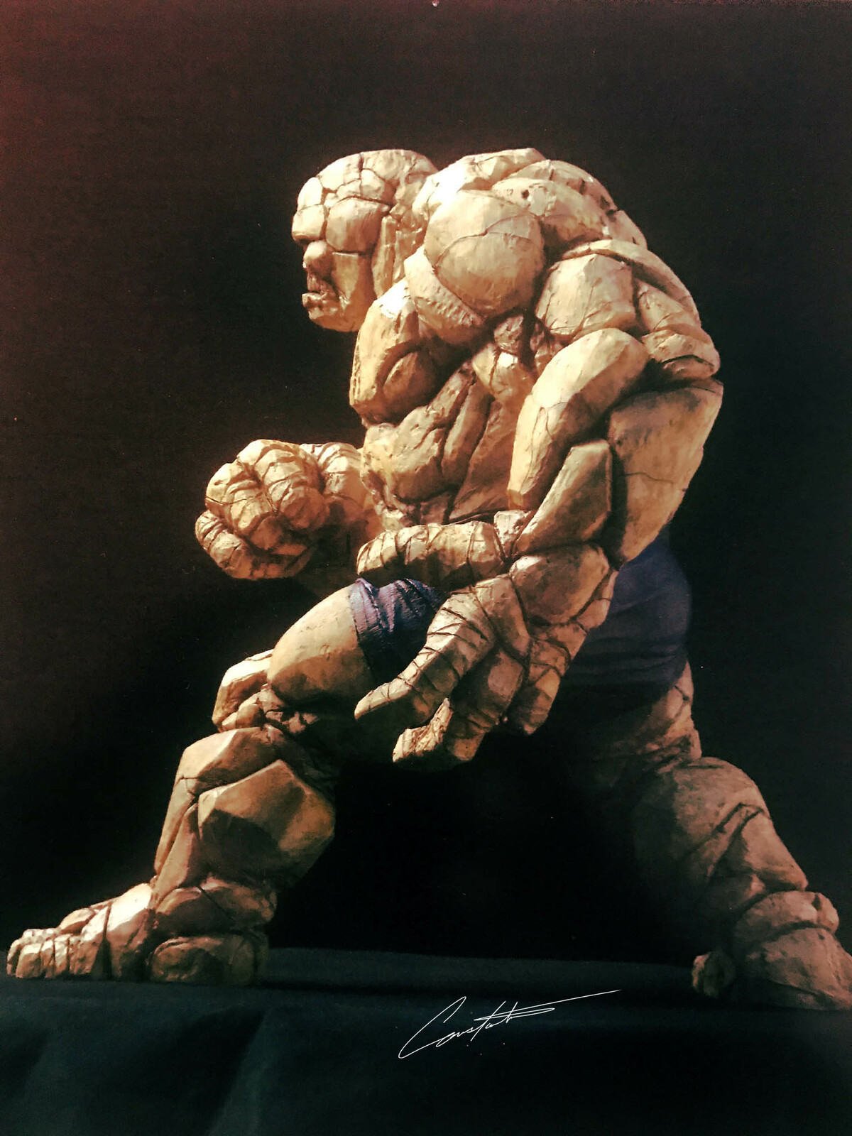 """Fantastic 4 """"Thing""""  traditionally sculpted Maquette"""