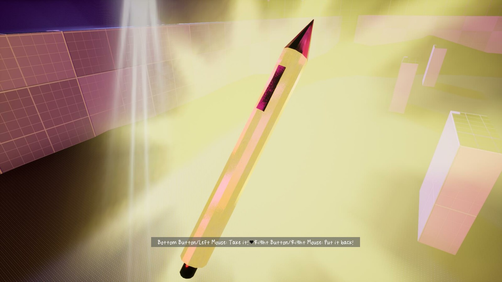The Wacom tablet pen (called Golden Stylus in game), this activates the Wacom stations and unlocks the hidden level art