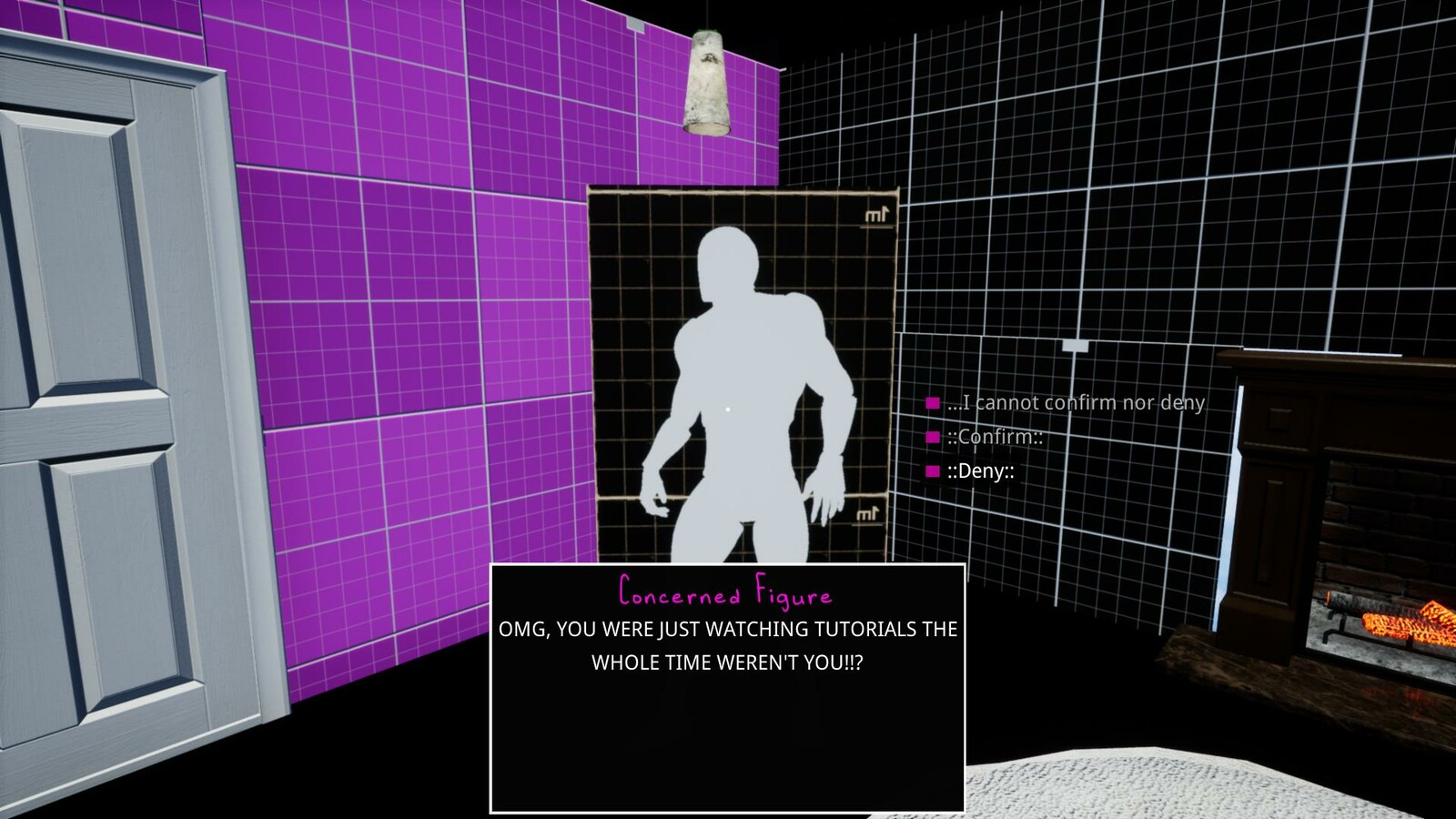 Dialogue that introduces the concept to the player