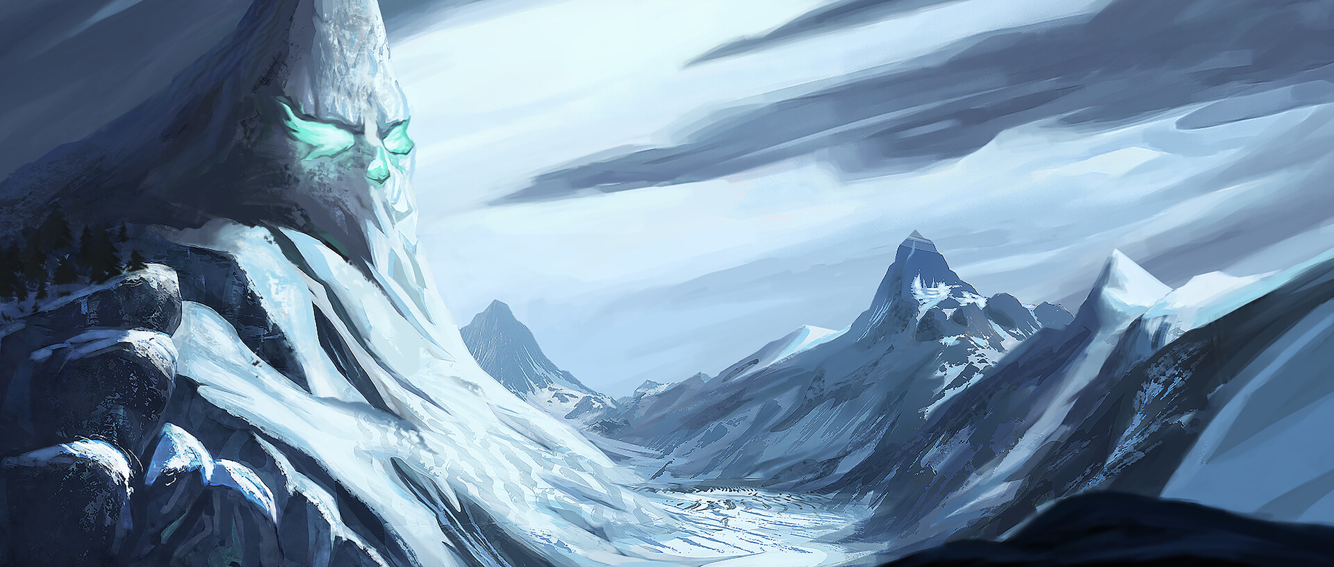 Concept Art Mountain Step