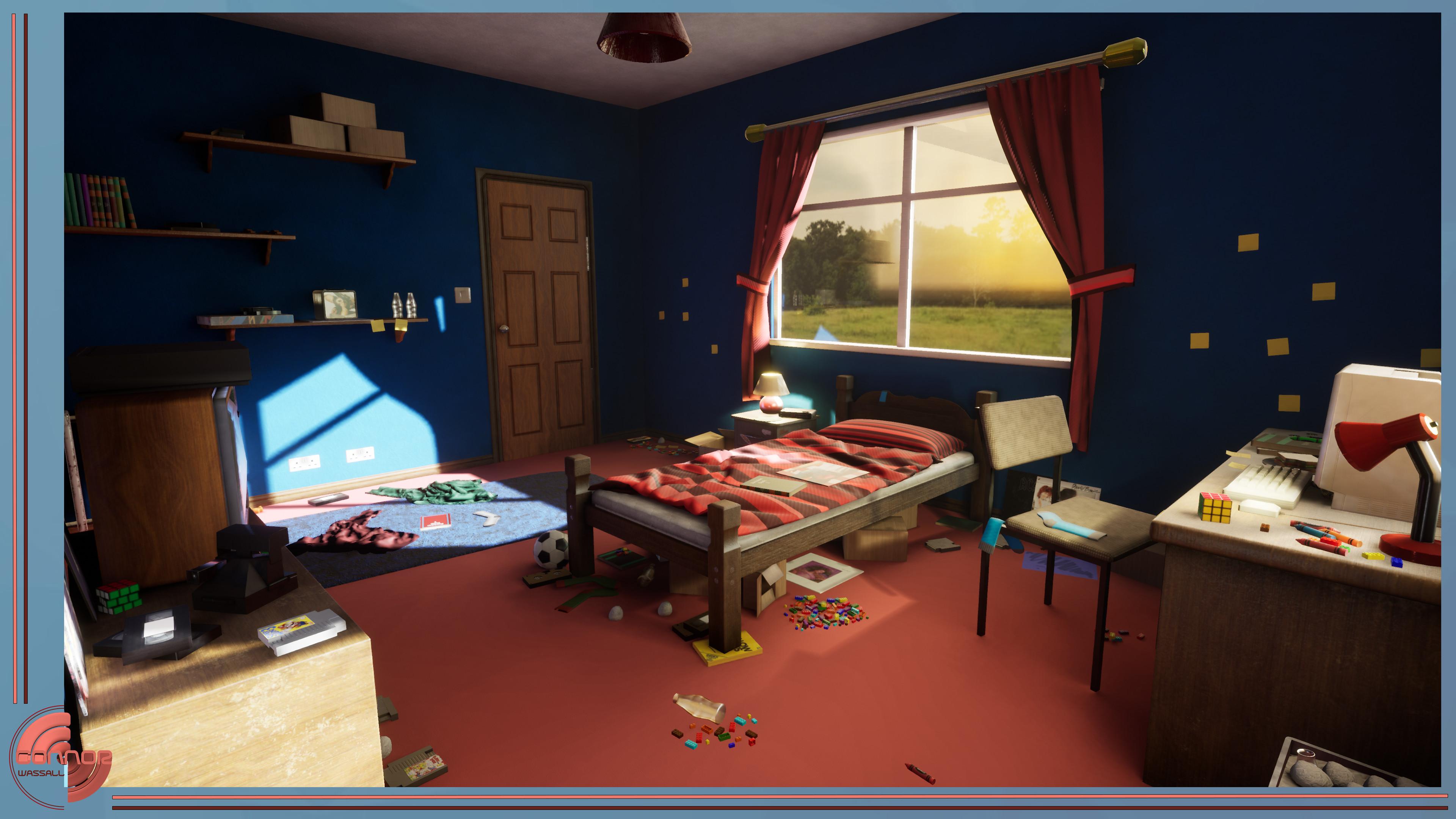 Connor Wassall Portfolio 3d Artist 80s Bedroom Final Game Project
