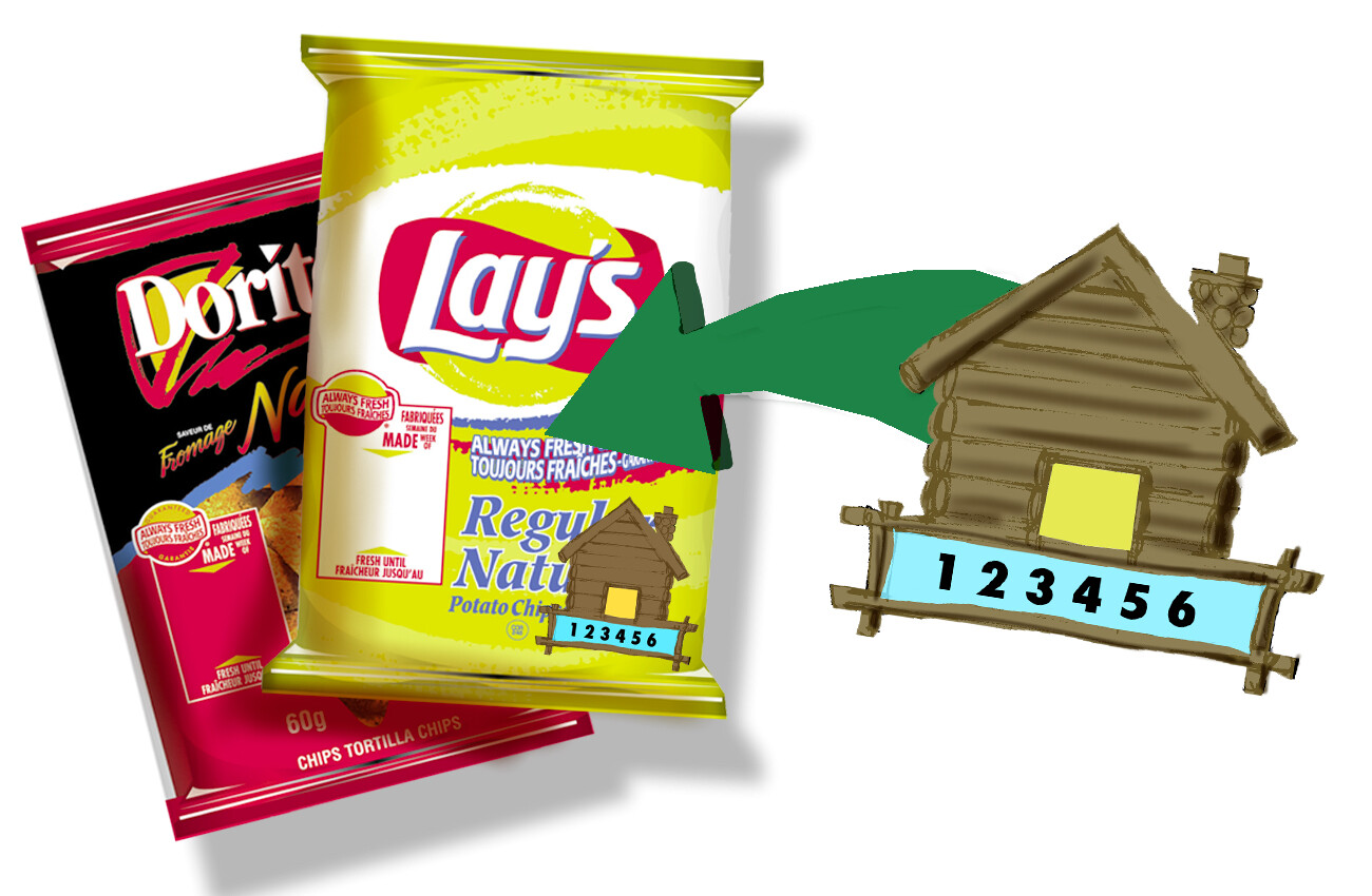 Contest graphic design for potato chip bags.