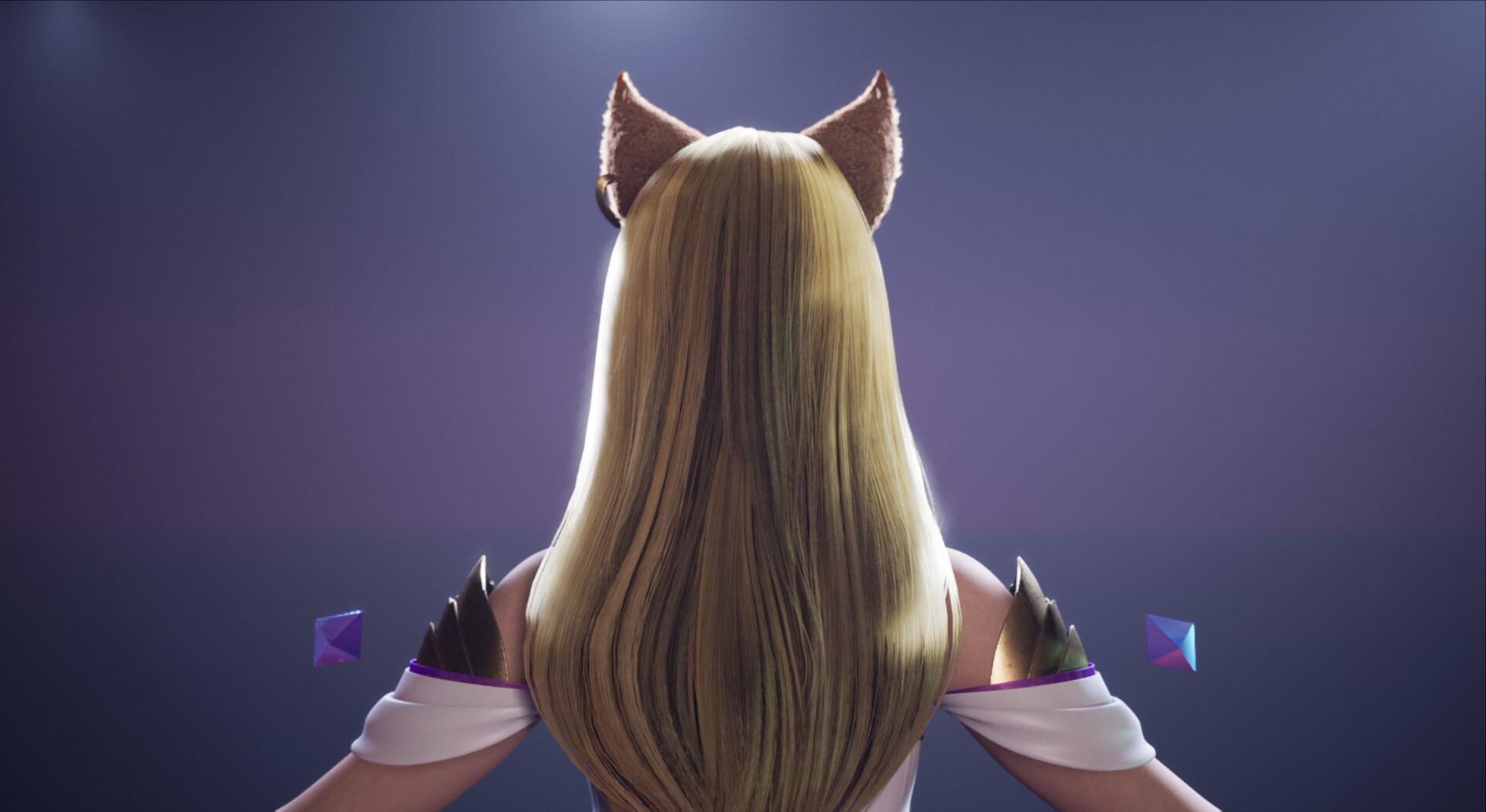... and blocking out hair. Ahri's hair took me a few iterations to get right.