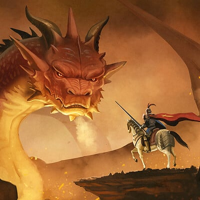 Wison hendrik dragon and knight by cicakkia db1s7zi