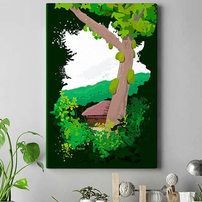 Rajesh r sawant jackfruit tree house 2