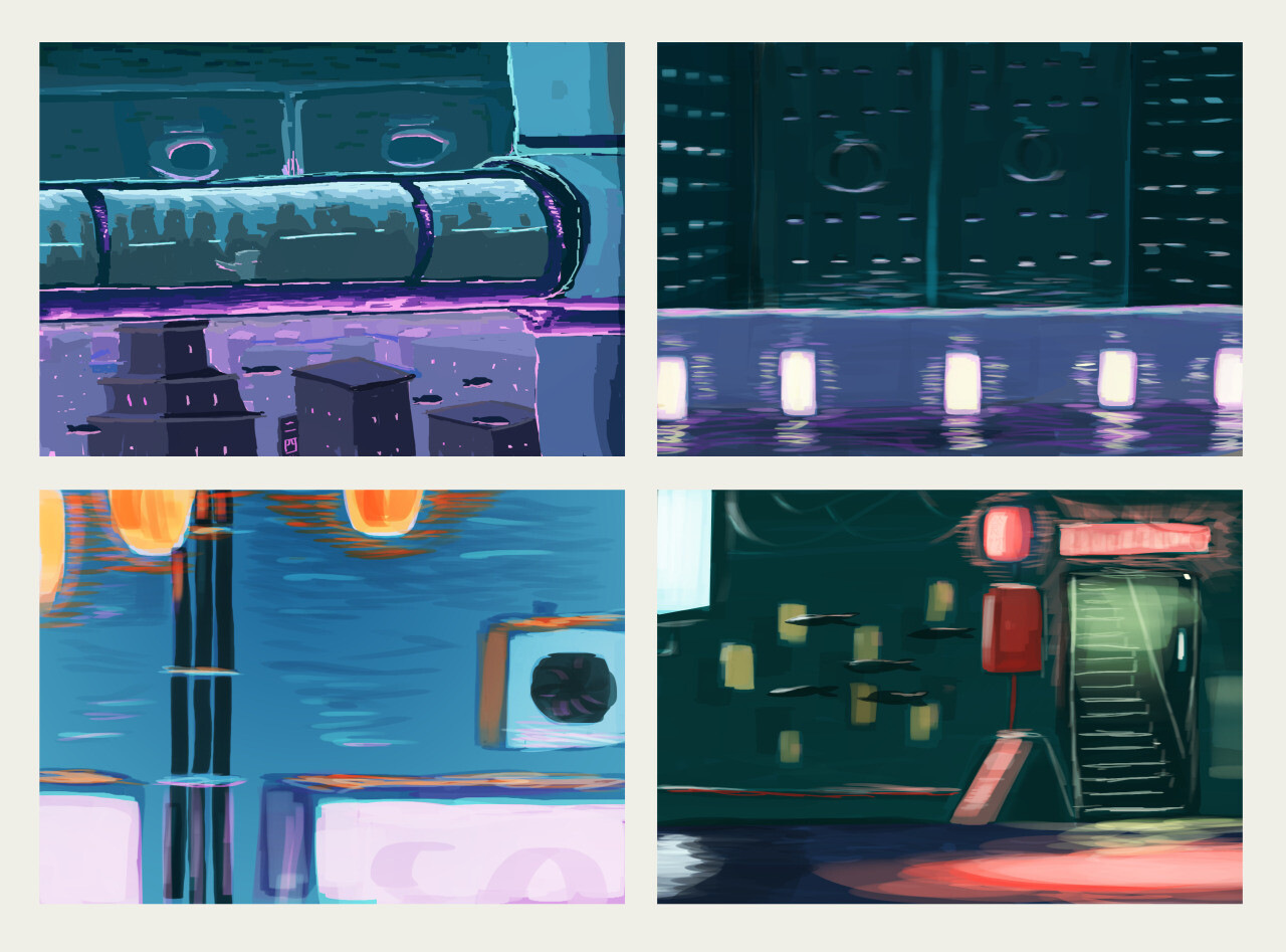Game stage concepts.